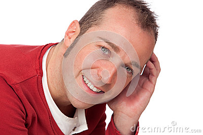 Sympathetic man smiling