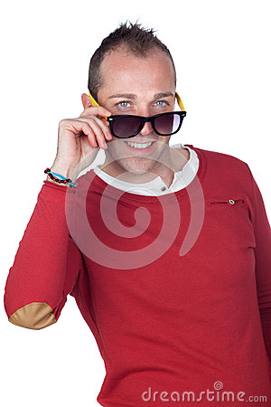 Sympathetic man with sunglasses