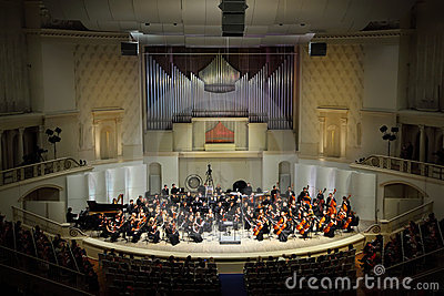 Symphony Orchestra of Moscow State Conservatory Editorial Stock Image
