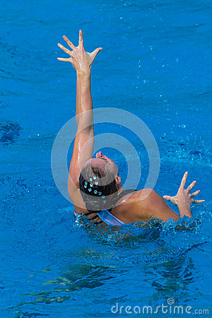 Synchronized Swimming Girl Hands Editorial Photo