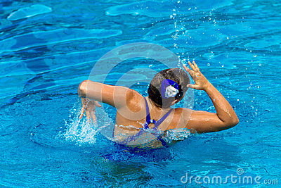 Synchronized Swim Girl Dance Pose  Editorial Image