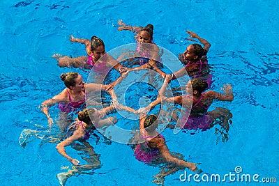 Synchronized Swim Womens Dance  Editorial Photography