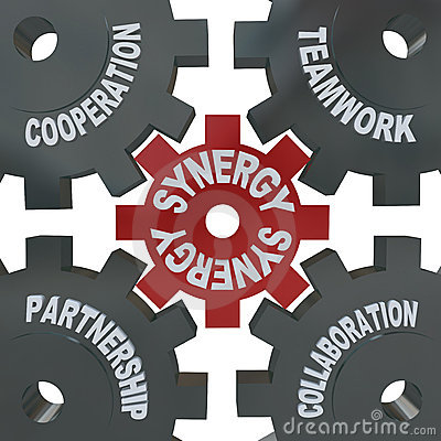 Free Synergy Gears - Teamwork In Action Stock Photography - 15996502