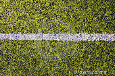 Synthetic sport pitch white mark background