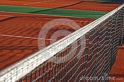 Synthetic sports field for tennis 1