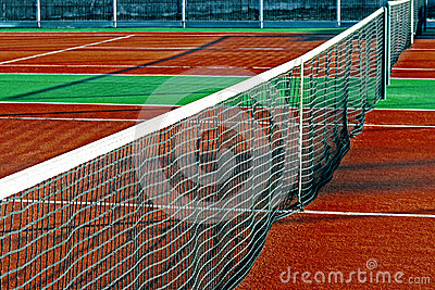 Synthetic sports field for tennis 11