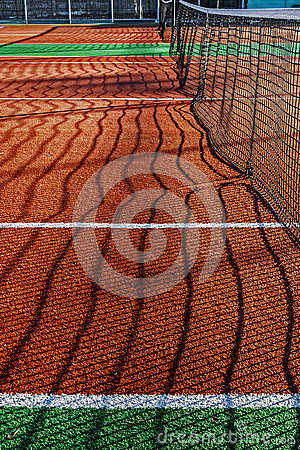 Synthetic sports field for tennis 2