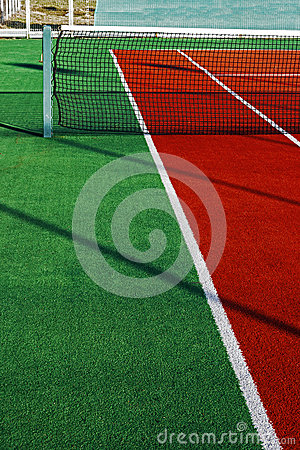 Synthetic sports field for tennis 6