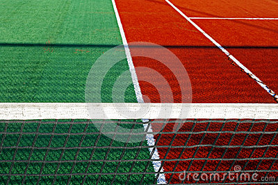 Synthetic sports field for tennis 9