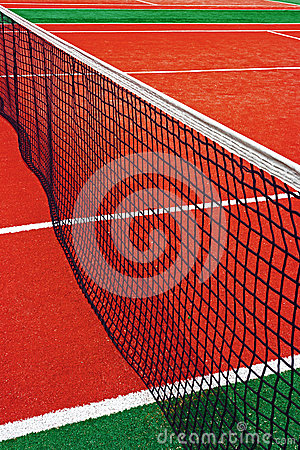 Synthetic sports field for tennis 15