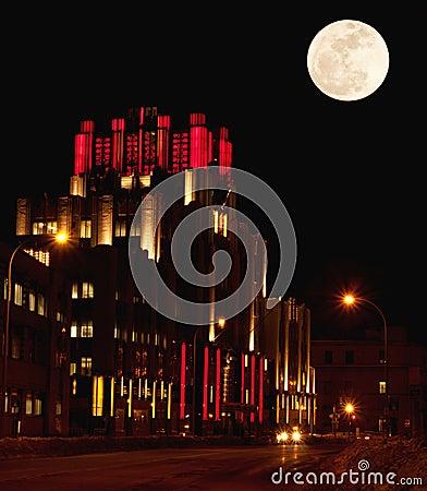 Syracuse, Nueva York en la noche