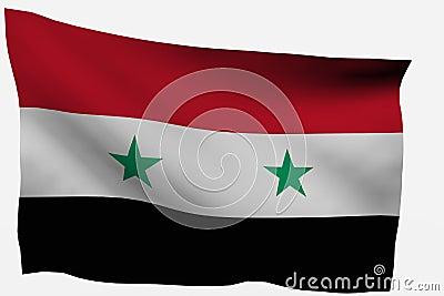 Syria 3d flag