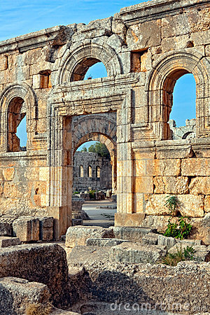 Syria - Church of St. Simeon - Qal a Sim an