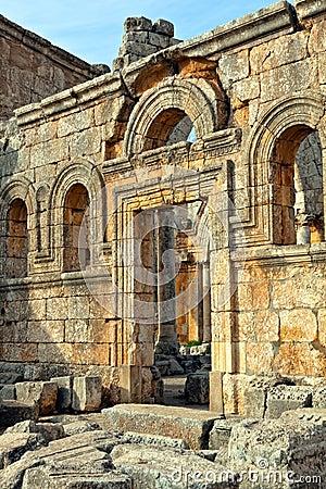 Syria - Church of St. Simeon - Qal a Sim an