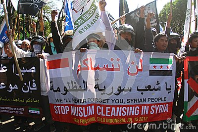 Syria demonstration Editorial Stock Image