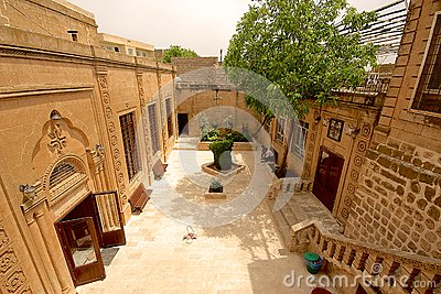 Syriac Orthodox Church in Midyat, Turkey. Editorial Stock Photo