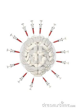 Syringe brain