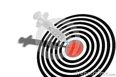 Syringe in a Dartboard