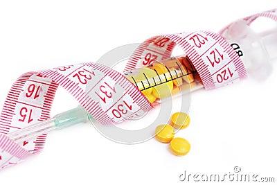 Syringe full with pills