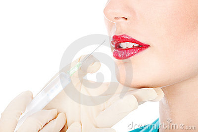 Syringe and lips