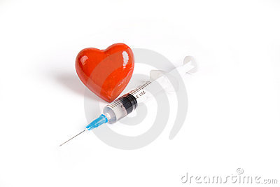 Syringe and Red Heart