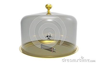 Syringe under the bell