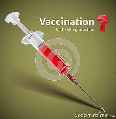 Syringe with vaccine