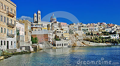 Syros, Greece, Panorama Royalty Free Stock Photo - Image: 26210555