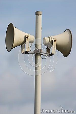 Syst me ext rieur de sir ne haut parleur photo libre de for Haut parleur exterieur