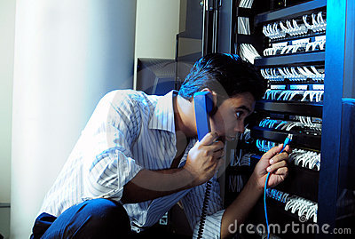 IT System Administrator Stock Photography - Image: 8032852