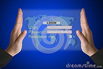 System Login interface