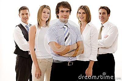 Szczęśliwa biznesowej zespołu