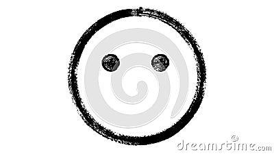 Szczęśliwa emoticon animacja ilustracji