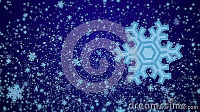 Szczęśliwego Nowego Roku 2020 - Nowy Rok Świecące Tło Wektorowe Ilustracje Boże Narodzenie i Szczęśliwego Nowego Roku Śnieg opada zbiory wideo