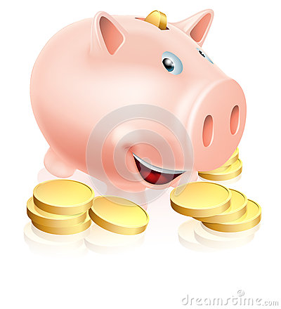 Szczęśliwy prosiątko bank