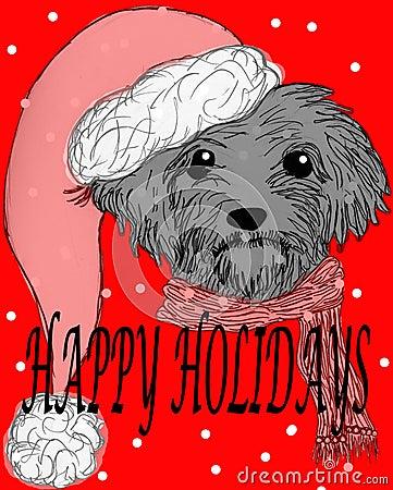 Szczęśliwy wakacje pies