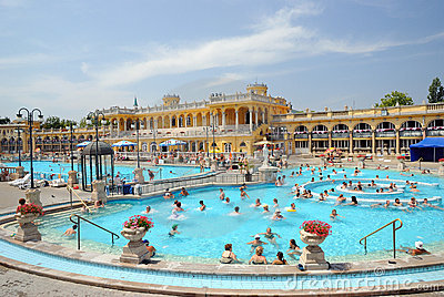 The Szechenyi Bath in Budapest Editorial Image