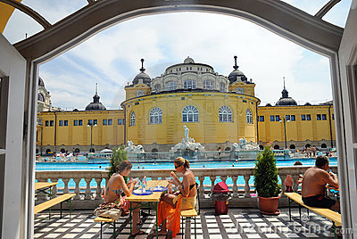 The Szechenyi Bath in Budapest Editorial Photography
