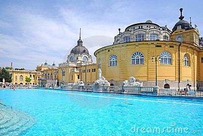 The Szechenyi Bath in Budapest Editorial Stock Image