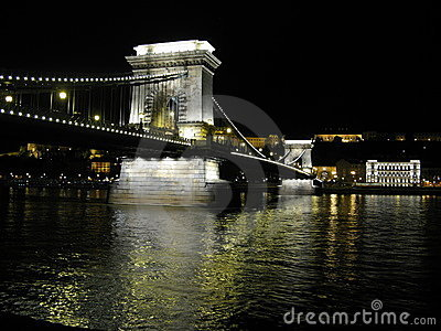 Szechenyi Chain Bridge over the Danube