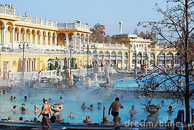 The Szechenyi Spa in Budapest Editorial Photo