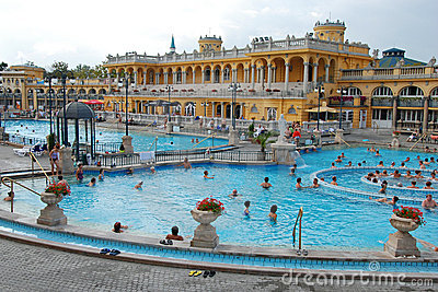 The Szechenyi Spa in Budapest Editorial Image