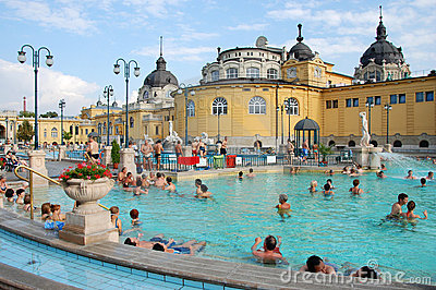 The Szechenyi Spa in Budapest Editorial Stock Photo