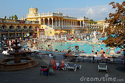 The Szechenyi Spa in Budapest Editorial Photography