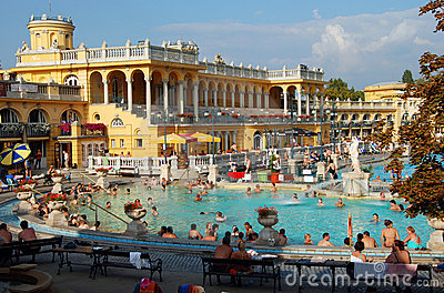 The Szechenyi Spa in Budapest Editorial Stock Image
