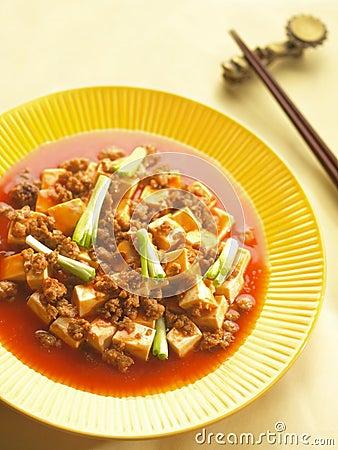 Free Szechuan Dish Ma-po Tofu Royalty Free Stock Photography - 12147017