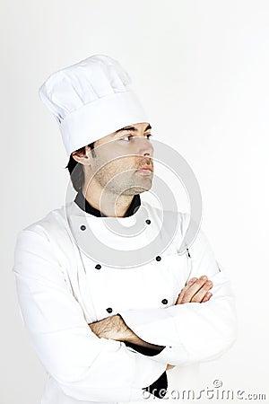 Szef kuchni samiec profesjonalista