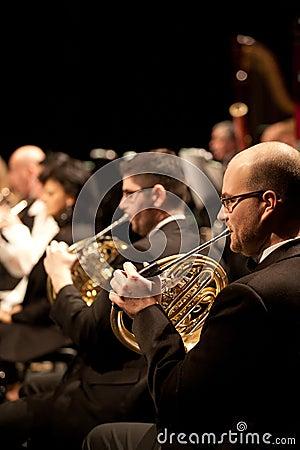 The   Szegedi Symphonic Orchestra performs Editorial Stock Photo
