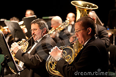 The   Szegedi Symphonic Orchestra performs Editorial Stock Image