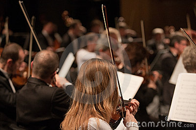 The   Szegedi Symphonic Orchestra performs Editorial Stock Photo